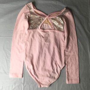 Capezio Leotard Dance Body Suit Pink Small